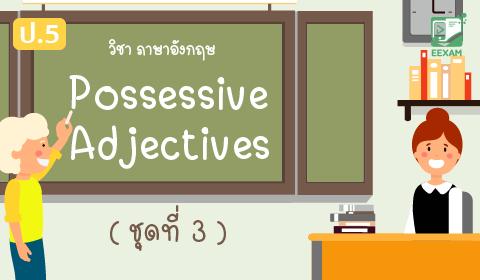 แนวข้อสอบภาษาอังกฤษ ป.5 เรื่อง Possessive Adjectives ชุดที่ 3