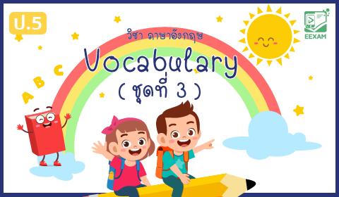 แนวข้อสอบภาษาอังกฤษ ป.5 เรื่อง Vocabulary ชุดที่ 3