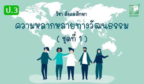 แนวข้อสอบสังคมศึกษา ศาสนาและวัฒนธรรม ป.3 เรื่อง ความหลากหลายทางวัฒนธรรม ชุดที่ 1