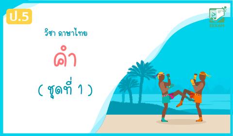 แนวข้อสอบภาษาไทย ป.5 เรื่อง คำ ชุดที่ 1