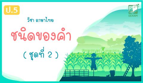 แนวข้อสอบภาษาไทย ป.5 เรื่อง ชนิดของคำในภาษาไทย ชุดที่ 2