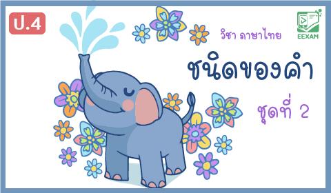 แนวข้อสอบภาษาไทย ป.4  เรื่องชนิดของคำ ชุดที่ 2