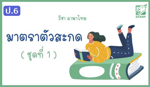 แนวข้อสอบภาษาไทย ป.6 เรื่องมาตราตัวสะกด ชุดที่ 1