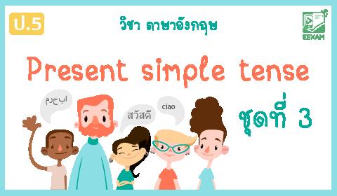 แนวข้อสอบภาษาอังกฤษ ป.5 เรื่อง Present simple tense ชุดที่ 3