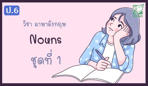 แนวข้อสอบภาษาอังกฤษ ป.6 เรื่อง nouns ชุดที่ 1