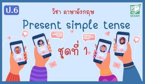 แนวข้อสอบภาษาอังกฤษ ป.6 เรื่อง Present simple tense ชุดที่ 1