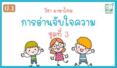แนวข้อสอบวิชาภาษาไทยป.1 เรื่อง การอ่านจับใจความ ชุดที่ 3